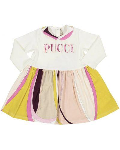 Różowa sukienka z printem Emilio Pucci