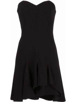 Черное платье с вырезом на молнии Cinq À Sept