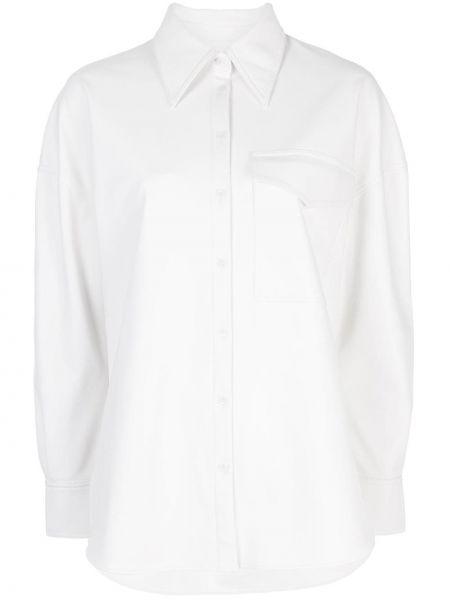 Klasyczna koszula z długim rękawem biała Tibi