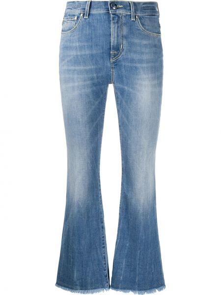 Расклешенные джинсы синие с бахромой Jacob Cohen