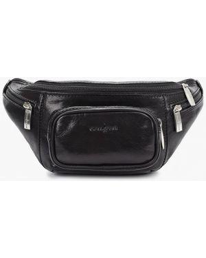 Кожаная поясная сумка - черная Gianni Conti