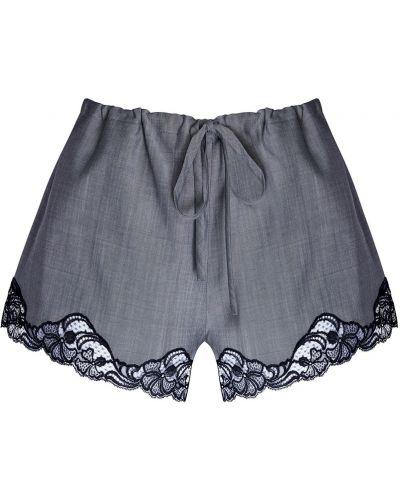 Короткие шорты черные шерстяные Alexander Wang