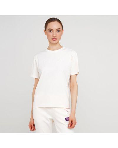 Белая футболка с вырезом с короткими рукавами Anta