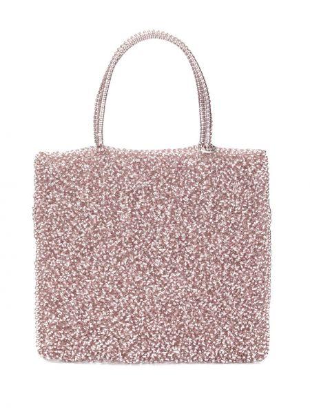 Розовая сумка-тоут круглая Anteprima