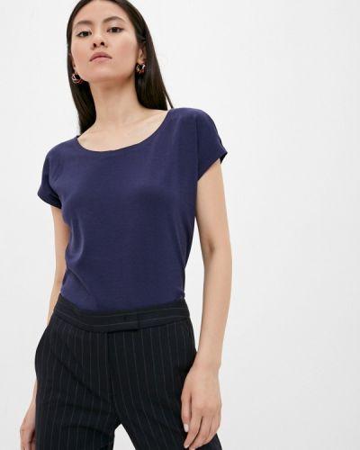 Синяя футболка с короткими рукавами Max&co