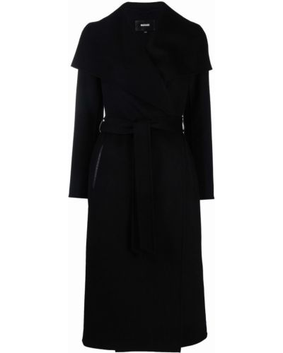 Черное длинное пальто Mackage