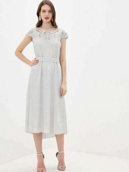 Вечернее платье осеннее серебряный Seam