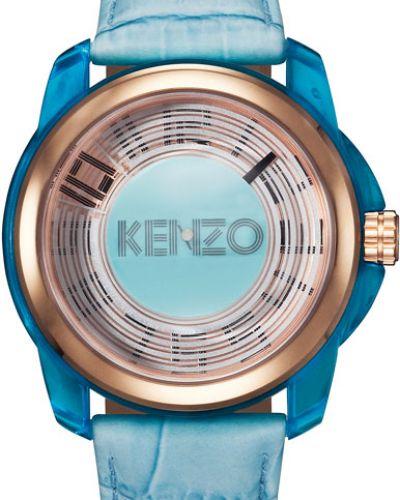 Часы водонепроницаемые с кожаным ремешком пластиковые Kenzo