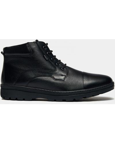 Теплые черные кожаные ботинки Ralf Ringer