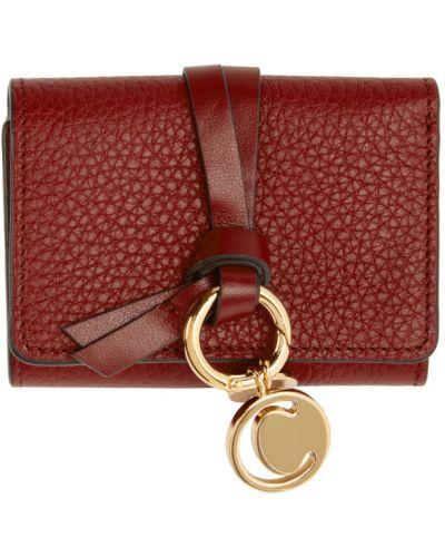 Czarny skórzany portfel na monety prążkowany Chloe