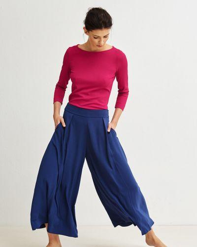Свободные брюки с карманами из полиэстера Simple