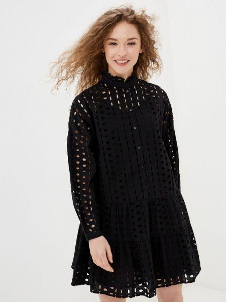 Платье прямое черное Pieces