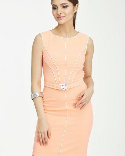 Платье с поясом персиковое платье-сарафан Fly