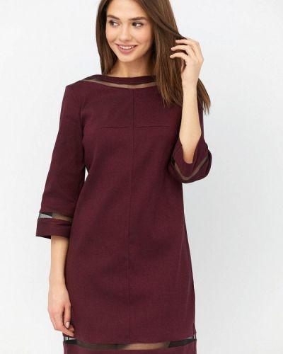 Повседневное платье бордовый красный Ricamare
