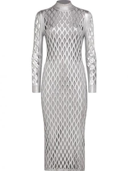 Платье в рубчик сетчатое Fendi