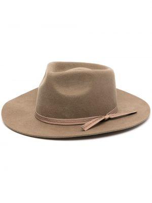 Zielony kapelusz wełniany Lack Of Color