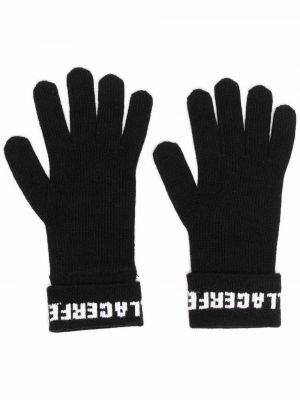 Rękawiczki - czarne Karl Lagerfeld