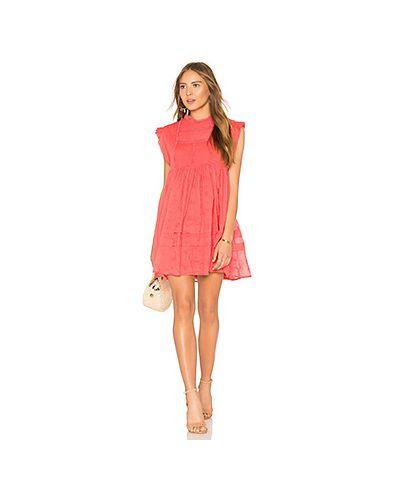 Платье мини ажурное с оборками Free People