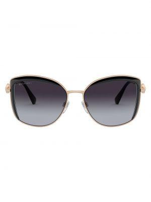 Золотистые желтые солнцезащитные очки металлические Bvlgari