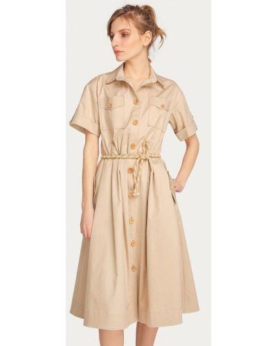 Платье платье-рубашка бежевое Stimage