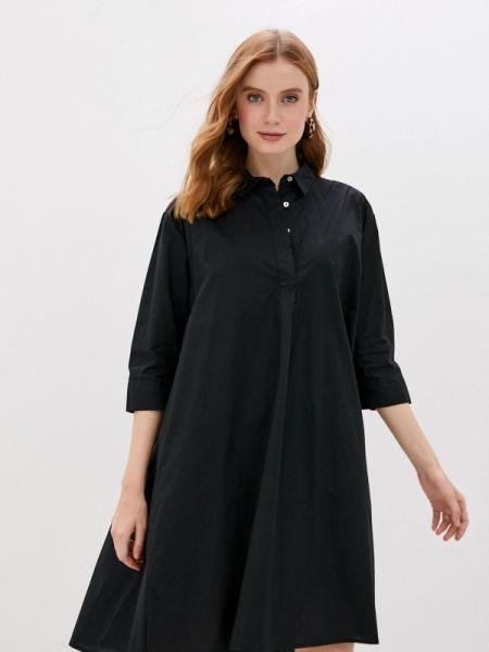 Платье платье-рубашка черное Jacqueline De Yong