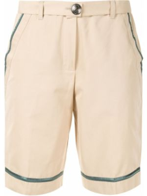 Хлопковые шорты с карманами на молнии Chanel Pre-owned