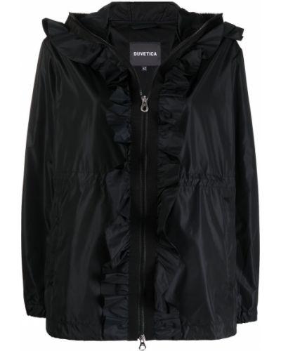 Черная куртка с капюшоном на молнии Duvetica