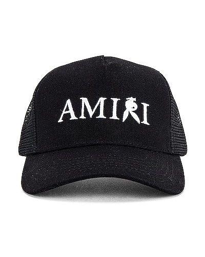 Biała czapka z haftem Amiri