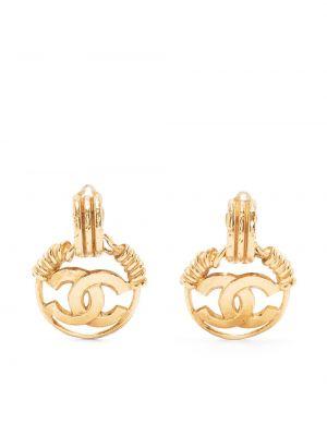 Złoty medalion pozłacany Chanel Pre-owned