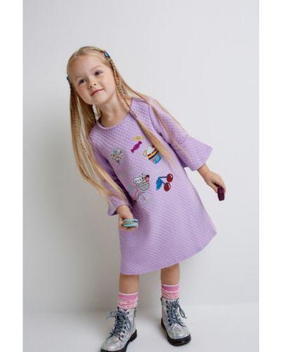 Платье хлопковое фиолетовый Acoola