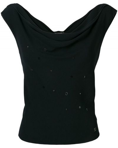 Блузка без рукавов винтажная шелковая Chanel Vintage