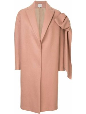Różowy płaszcz wełniany Delpozo