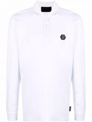 Biała koszula bawełniana z długimi rękawami Philipp Plein