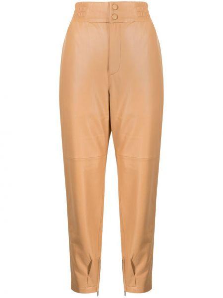 С завышенной талией прямые коричневые брюки Manning Cartell
