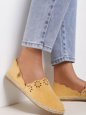 Żółte espadryle materiałowe Renee