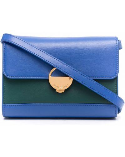 Złota kopertówka - niebieska Emporio Armani