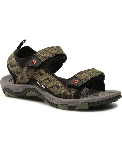 Zielone klasyczne sandały Bergson