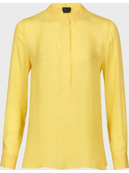 Желтая шелковая блузка на пуговицах Luisa Spagnoli