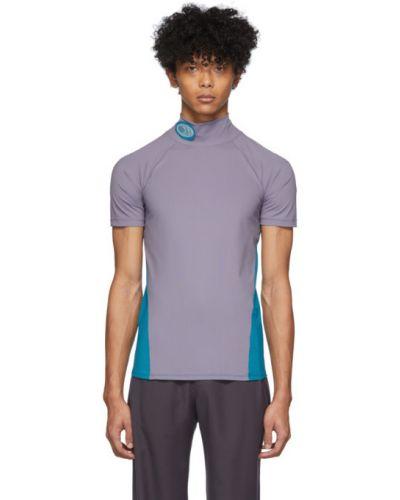 Niebieski t-shirt krótki rękaw z nylonu Keenkee