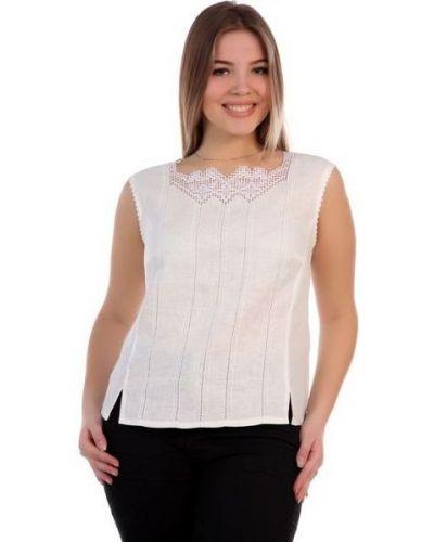 Блузка без рукавов с вышивкой прямая Грандсток