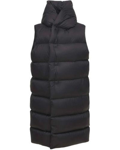 Черное пуховое пальто Rick Owens