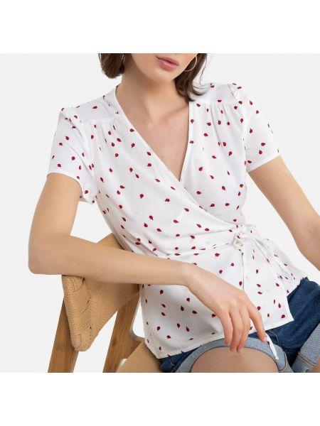 Блузка с запахом с поясом La Redoute