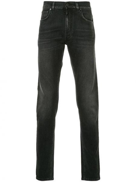 Klasyczne czarne jeansy bawełniane Kent & Curwen