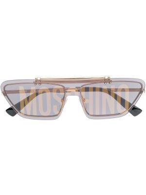 Муслиновые желтые солнцезащитные очки Moschino Eyewear
