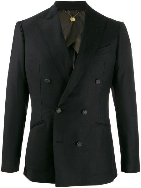 Черный пиджак на пуговицах с лацканами с карманами Maurizio Miri
