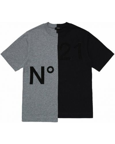 Czarna t-shirt N°21