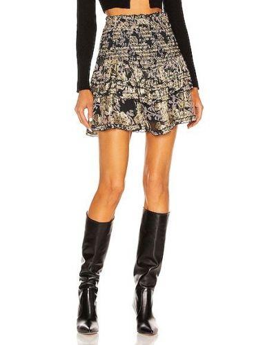 Шифоновая юбка мини - черная Hemant And Nandita