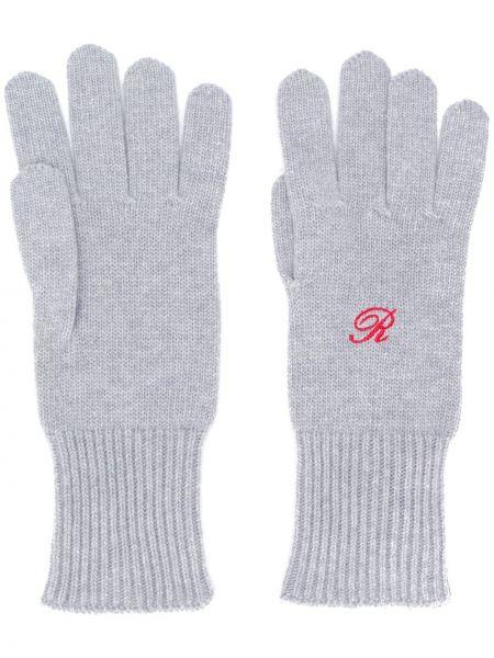 Rękawiczki wełniane z haftem Raf Simons