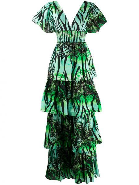 Платье мини с V-образным вырезом на молнии Fausto Puglisi