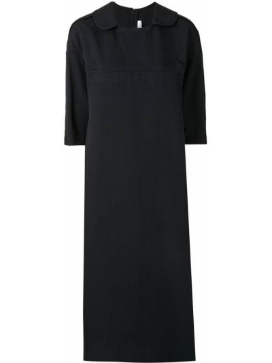 Черное платье трапеция с воротником Comme Des Garçons Comme Des Garçons
